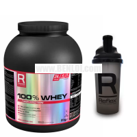 Reflex 100% Whey 2kg (Chocolate Perfection Flavor) with FREE 700ml Shaker
