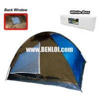 Bobcat 8-Person Monodome Tent With Box (Blue/Brown)