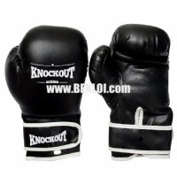 Knockout Boxing Gloves Black