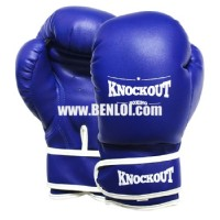 Knockout Boxing Gloves Blue