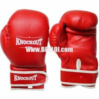 Knockout Boxing Gloves Red
