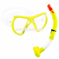 Aquagear M24 Mask & Snorkel Set Neon Yellow/Clear