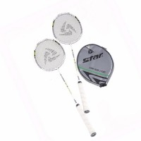 Star DR-SS100 Badminton Racket with Head Case (White)