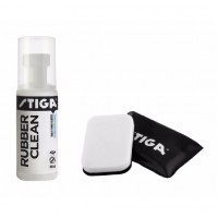 Stiga Rubber Cleaner (100ml) with Set of 2 Stiga Foam Wiper