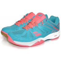 Babolat Shadow Team Women's Badminton Shoes (Blue/Pink)