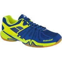 Babolat Shadow Spirit Blue/Yellow Badminton Shoes (Men)