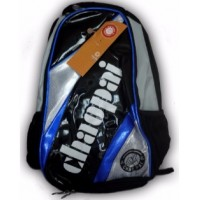 Chao pai Badminton Backpack (Blue Silver)